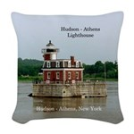 Hudson Athens Lighthouse Large Woven Throw Pillow