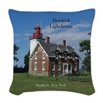 Dunkirk Lighthouse Woven Throw Pillow