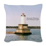 Keweenaw Waterway Lower Woven Throw Pillow