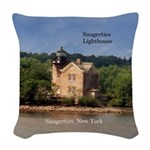 Saugerties Lighthouse Woven Throw Pillow