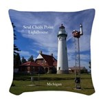 Seul Choix Point Lighthouse Woven Throw Pillow