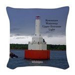 Keweenaw Waterway Upper Woven Throw Pillow