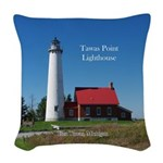 Tawas Point Lighthouse Woven Throw Pillow