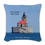 Port Austin Reef Light Woven Throw Pillow