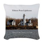 Tibbetts Point Lighthouse Woven Throw Pillow