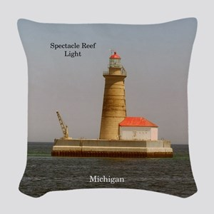 Spectacle Reef Light Woven Throw Pillow