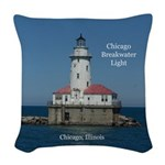 Chicago Breakwater Light Woven Throw Pillow
