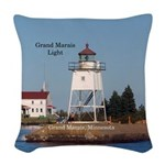 Grand Marias Light Woven Throw Pillow