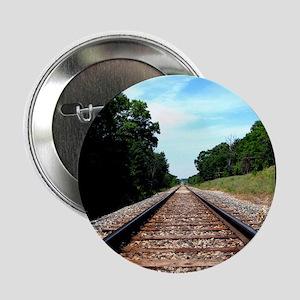 """.railroad tracks. color 2.25"""" Button"""