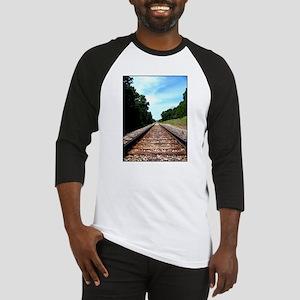 .railroad tracks. color Baseball Jersey
