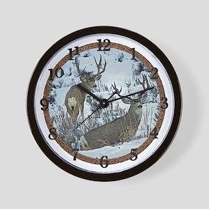 Mature Mule deer bucks Wall Clock