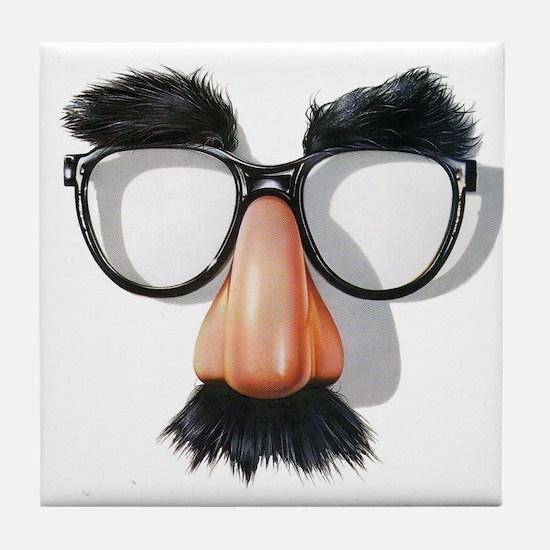 Tile Coaster w/ Groucho Glasses