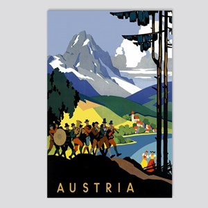 Austria Band Travel Postcards (Package of 8)