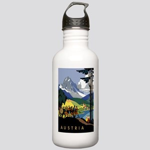 Austria Band Travel Stainless Water Bottle 1.0L