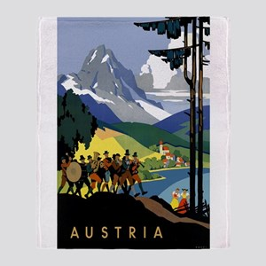 Austria Band Travel Throw Blanket