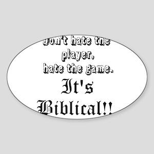 Bible 1 Sticker (Oval)