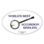 accordion kindling Oval Sticker