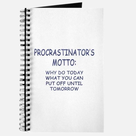 Procrastinator's Motto Journal