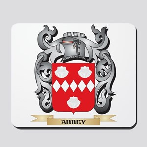 Abbey Family Crest - Abbey Coat of Arms Mousepad