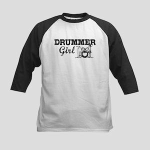 Drummer Girl Kids Baseball Jersey