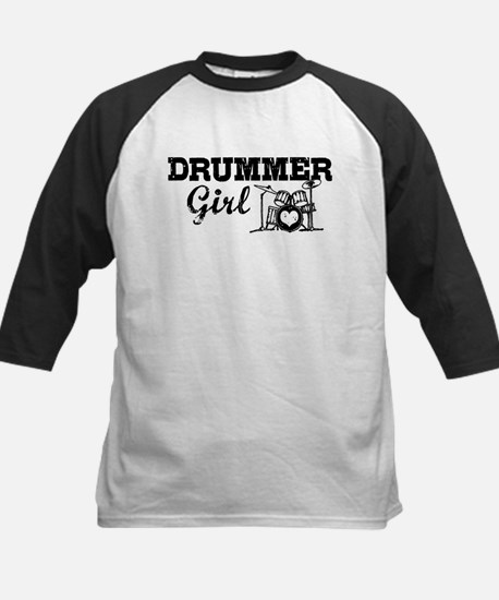 Drummer Girl Kids Baseball Jersey