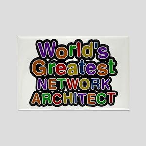 World's Greatest NETWORK ARCHITECT Rectangle Magne