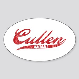 Cullen Baseball Sticker (Oval)
