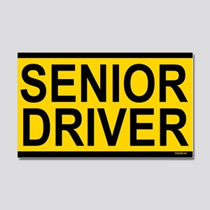 Senior Driver Car Magnet 20 x 12