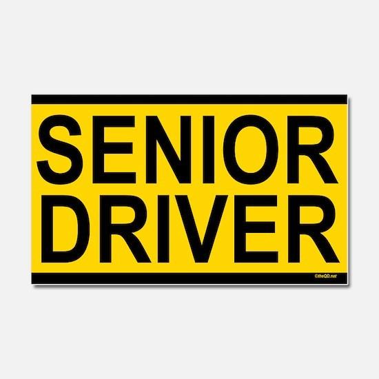 Senior Driver Car Magnet 20 x 12