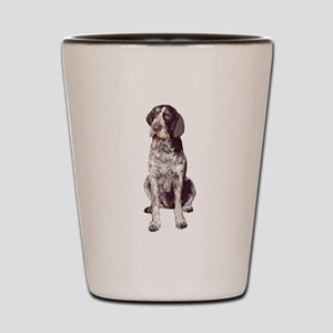 german wirehaired Pointer sit Shot Glass