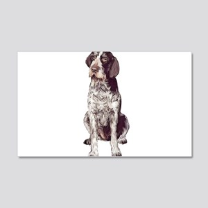 german wirehaired Pointer sit 22x14 Wall Peel