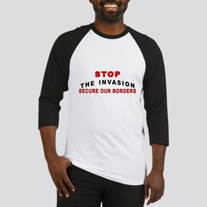 Stop The Invasion SOB Baseball Jersey