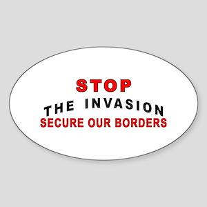 Stop The Invasion SOB Oval Sticker