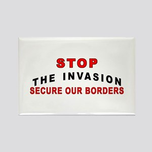 Stop The Invasion SOB Rectangle Magnet