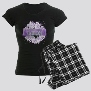 Crystal Violet Dancer Wreath Women's Dark Pajamas