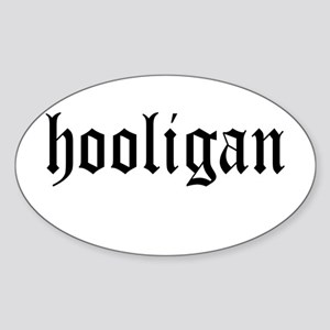 HOOLIGAN Oval Sticker
