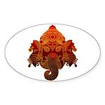 Ganesha Sticker (Oval 10 pk)