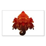 Ganesha Sticker (Rectangle 10 pk)