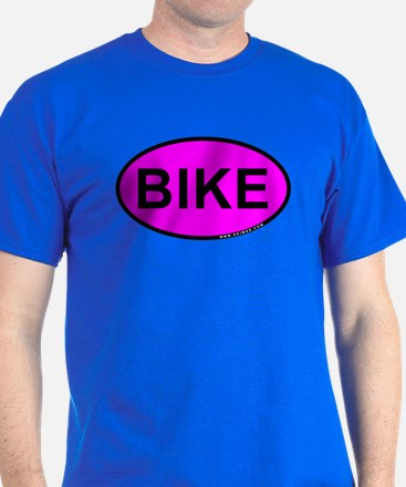 Pink BIKE Oval T-Shirt