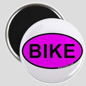 Pink BIKE Oval Magnet