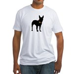 Christmas or Holiday Bullterrier Silhouette Fitted