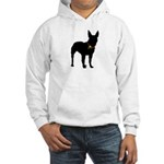 Christmas or Holiday Bullterrier Silhouette Hooded