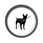 Christmas or Holiday Bullterrier Silhouette Wall C