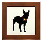 Christmas or Holiday Bullterrier Silhouette Framed