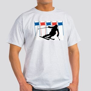 Ski Competition Ash Grey T-Shirt