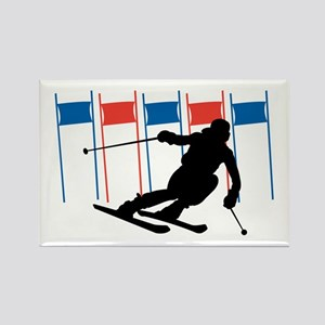 Ski Competition Rectangle Magnet