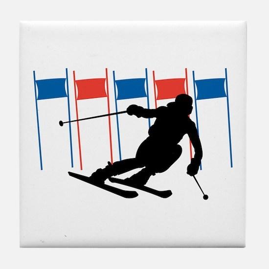 Ski Competition Tile Coaster