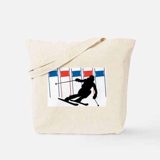 Ski Competition Tote Bag