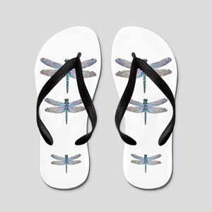dragonflies on white Flip Flops