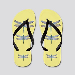 dragonflies on yellow Flip Flops